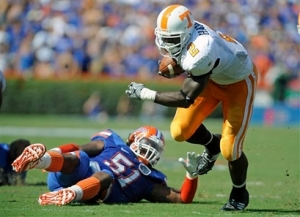 Tennessee Montario Hardesty was the Vol offense for large stretches of the afternoon. AP Photo-Phil Sandlin.