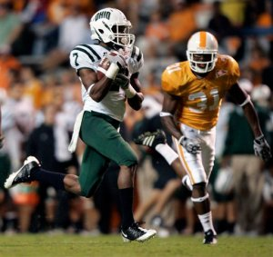 Ohio's LaVon Brazill kept the Vol secondary busy. AP Photo by Wade Payne.