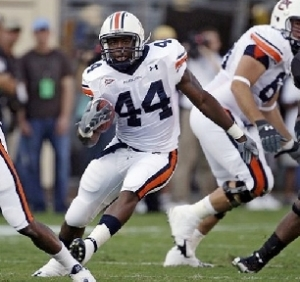 Auburn RB Ben Tate ran for 129 yards on 25 carries.