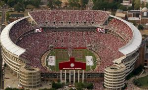 Bryant-Denny Stadium in Tuscaloosa is still growing.