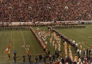 "Through the ""T"" from the east. Picture from 1980 (Pitt at UT)."