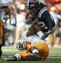 Dexter McCluster against the Tennessee Vols.