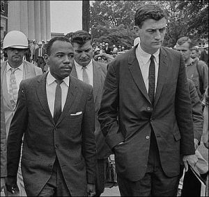 James Meredith and John Doar at Ole Miss_1962
