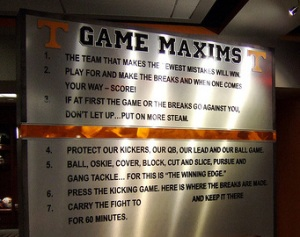 The Seven Game Maxims