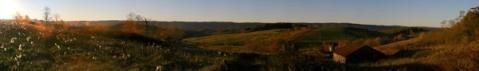 November landscape at sunrise