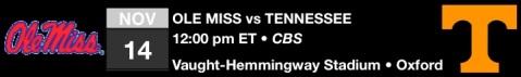 Ole Miss vs Tenn
