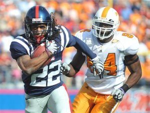 Dexter McCluster in the open field against Tennessee.