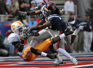Tennessee's Denarius Moore against Ole Miss.