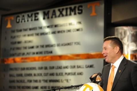 Neyland's Seven Game Maxims don't address recruiting - the main uncertainty with Butch Jones. Photo courtesy of KNS.