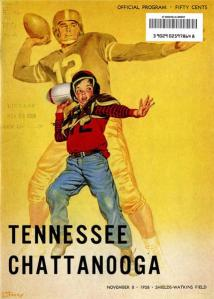 1958 game program Mocs v Vols